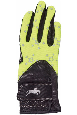 Harry Hall Childrens Roxby Reflective Gloves Yellow