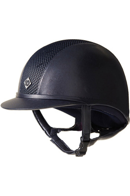 Charles Owen AYR8 Plus Leather Look Helmet Midnight Blue