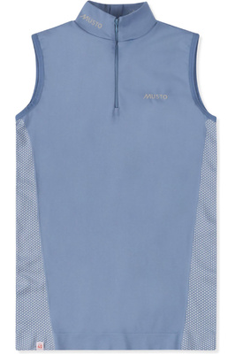Musto Womens Performance Sleeveless Stock Shirt Pearl Blue