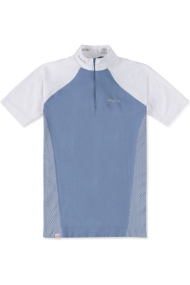 Musto Womens Performance Stock Shirt Pearl Blue / White