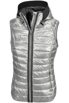 Pikeur Womens Hanny Hooded Gilet Silver