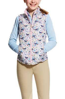 Ariat Girls Emma Reversible Vest Garden Pony Print