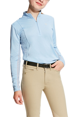 Ariat Girls Sunstopper 1/4 Zip Powder Blue