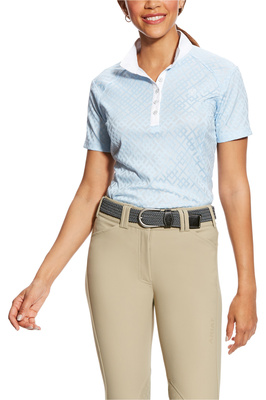 Ariat Womens Showstopper Show Shirt Powder Blue