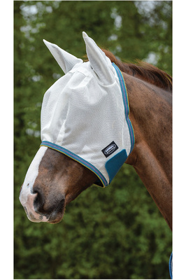 Weatherbeeta Comfitec Airflow Fly Mask White / Sea Green