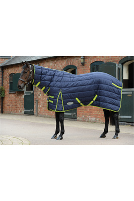 Weatherbeeta Comfitec PP Channel Quilt Combo Neck Heavy Navy / Lime
