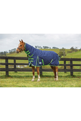 Weatherbeeta Comfitec Plus Dynamic Combo Neck Heavy Navy / Lime