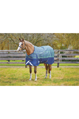 Weatherbeeta Comfitec Plus Dynamic Standard Neck Medium Navy / Lime