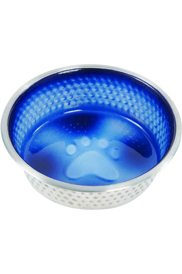 Weatherbeeta Non-Slip Stainless Steel Shade Dog Bowl - Royal Blue