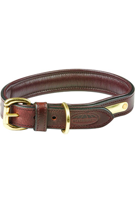 Weatherbeeta Padded Leather Dog Collar - Brown