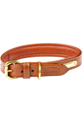 Weatherbeeta Padded Leather Dog Collar - Tan