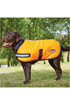 Weatherbeeta Reflective Parka 300D Dog Coat - Orange