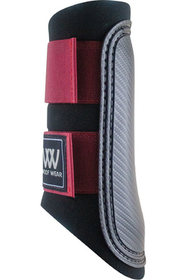 Woof Wear Club Brushing Boot - Black / Shiraz