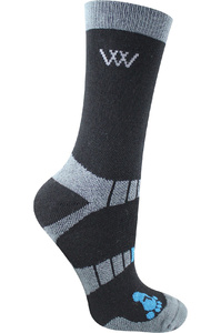 Woof Wear Short Bamboo Waffle Riding Socks Black