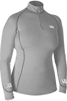 Woof Wear Womens Performance Riding Shirt - Brushed Steel