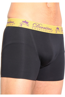 Derriere Equestrian Mens Bonded Padded Shorty Black