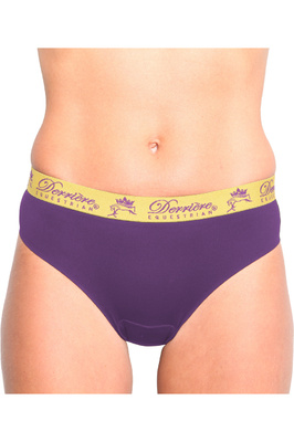 Derriere Equestrian Womens Performance Padded Panty Purple