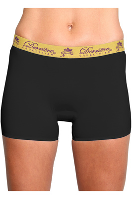 Derriere Equestrian Womens Bonded Padded Shorty Black