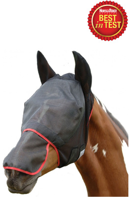 Equilibrium Field Relief Max Fly Mask Black / Red